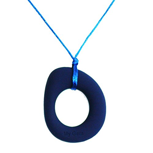Gumigem Eternity Chew Teething Pendant Desire By - Silicone Teething Jewellery (Dark Blue) Desire Jewelry