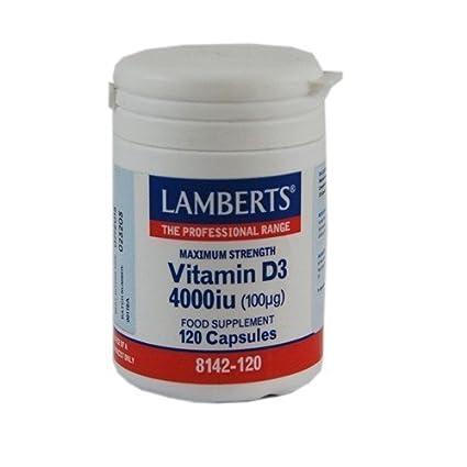 Vitamina D3 4000Ui 120 Capsuals Lamberts
