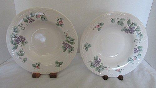 2 Pfaltzgraff Grapevine Rimmed Soup Bowls 9