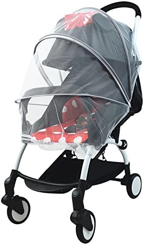 PER Baby Stroller Mosquito NetZipper Insect Protector Breathable Canopy Universal Fit for Strollers