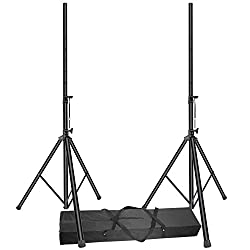 Neewer 2 Packs Pro PA Speaker Stand Pole-Mount Adjustable Height 6 Feet with Foldable Carrying Bag, Load Capacity up to 100 pounds/45 kilograms (NW-400L) by Neewer