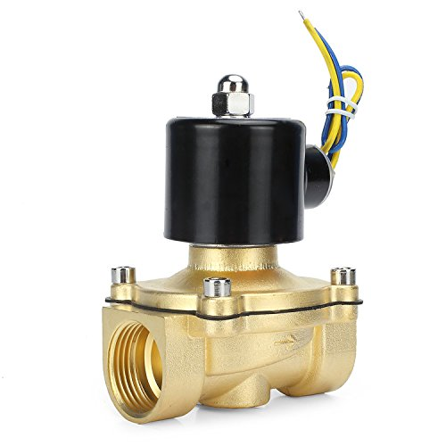 RELIAN Electric Solenoid Valve 1Inch 12V DC Water Air Gas Normally Closed Replacement Brass Valve for Use with Pipelines in Water Air and Diesel Applications (Pvc Valve Electric)