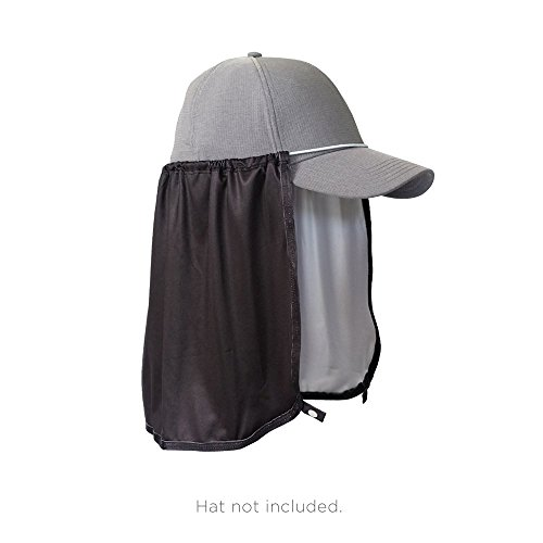 Attachment Cover - Sun Protection Hat Shade Attachment with SPF 45+ & Cooling Fabric- Black
