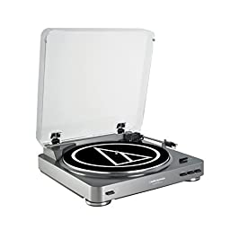 Audio Technica AT-LP60 Fully Automatic Stereo Turntable System, Silver