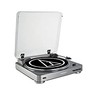 Audio-Technica AT-LP60 tocadisco - Tocadiscos (Corriente alterna, 120V, 60 Hz, Aluminio, Transparente, metal, RCA)