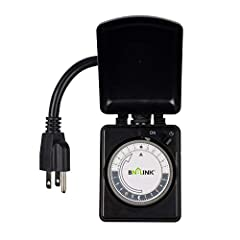BN-LINK outdoor outlet timer will continue to function in extreme weather conditions. Perfect for your outdoor lights, pool pumps, fountains, and Christmas/ yard/patio/landscape/holiday lamps and other electric devices. Easy setting: Turn the...