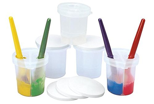 Colorations SPLITC Double-Dip Divided Paint Cups (Pack of 5) by Colorations