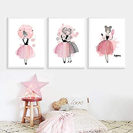 Nordic Ideas Set De 2 Affiches Rose Et Citation Tableau