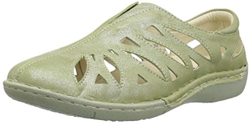 Propet Women's Cameo Loafer Flat, Silver sage, 10 Narrow US ()
