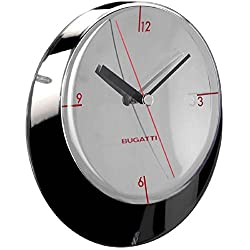 BUGATTI - Glamour Wall Clock Ø33 cm. Chromed