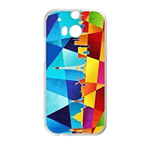 Canting_Good,Eiffel Tower, Custom Case for HTC One M8 (Laser Technology)