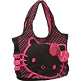 Hello Kitty Black Tote: Pink Sequin, Bags Central