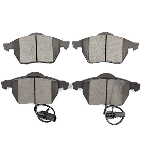 Ceramic Discs Brake Pads,SCITOO 4pcs Front Brake Pads Brakes Kits fit 03 04 05 06 Audi A4,99 00 01 02 03 04 05 06 Audi A4 Quattro,01 02 03 04 ()