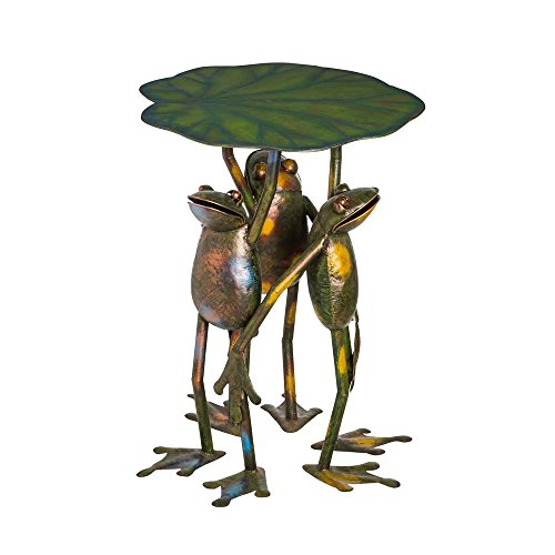 Cape Craftsmen Three Frogs Standing Handmade Metal Patio Side Table Review