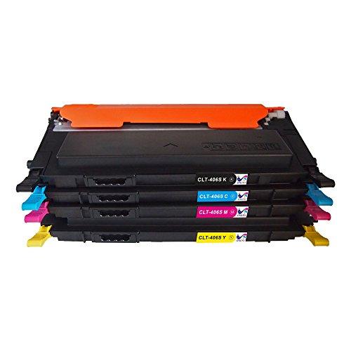 ONLYU Compatible Toner Cartridge Replacement For Samsung CLT-K406S CLT-C406S CLT-M406S CLT-Y406S 4-Pack(1Black + 3Color) For CLX-3305 SL-C460FW C460W CLP-360 CLP-365 Printer