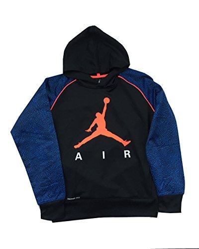 Air Jordan Therma Fit Hoodie size L Blue/Black/Orange