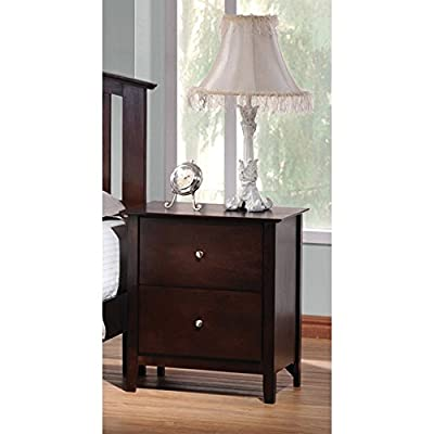 Coaster Furniture Tia 2 Drawer Nightstand