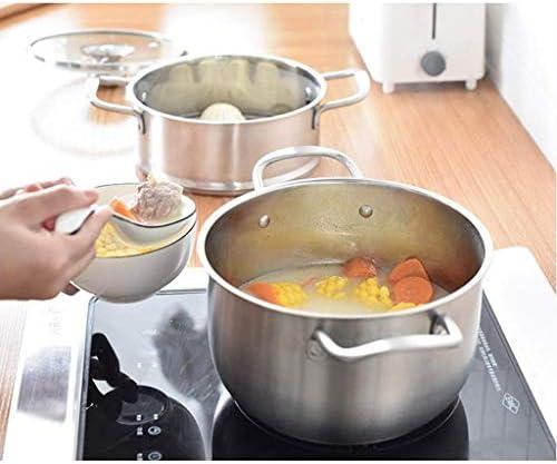 YWSZJ Bac à Sauce collé en Acier Inoxydable allant au Lave-Vaisselle avec poignée et Couvercle for Aide de Boucle