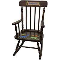 Personalized Espresso Dinosaur Rocking Chair
