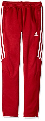 adidas Youth Soccer Tiro 17 Pants, Small - Power Red/White