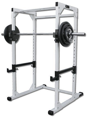 Black Power Rack Heavy Duty W/300lb black Set & Free Mat by Ader Sporting Goods