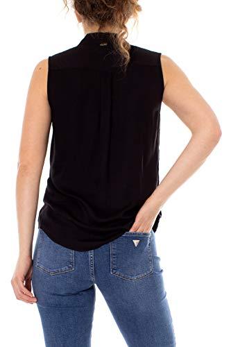 Sl Manica Corta Shirt Donna Valeria W92h87 Guess Nero Camicia Wauk0 xFIpqwn1