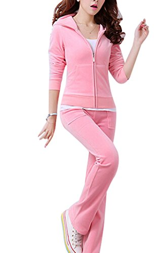 Pink Velour Tracksuit - 5