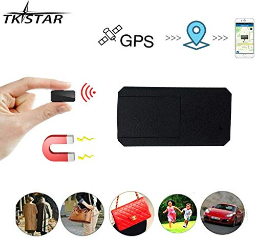 Mini GPS,TKSTAR Mini GPS Tracker Magnetic Micro GPS Tracking Anti Theft Real Time GPS Tracker Portable GPS Locator Handbag Wallet Pockets School Bag Important Documents Lost Finder Tracker Free APP