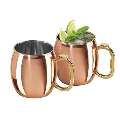 Oggi Moscow Mule Copper Plated Mugs (Set of 2), 20-Ounce by Oggi