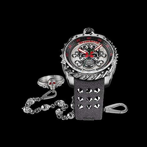 [ボンバーグ] メンズ 腕時計 自動巻き 懐中時計 ポケットウォッチ ボルト68 バダス リミテッドエディション オートマチック BOLT-68 BS45ASS.039-4.3 デニムストラップ グレー 灰