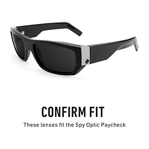 Verres de rechange pour Spy Optic Paycheck — Plusieurs options Noir Chrome MirrorShield® - Polarisés