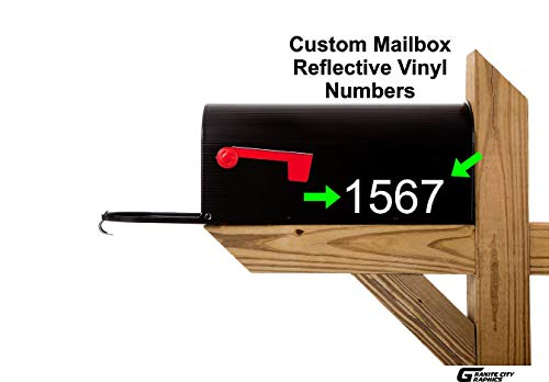 "2 Sets of 2"" Custom Reflective Mailbox Numbers Decals"