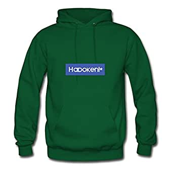 Personalized Cool Hadoken Lovely Hoodies In Green Women Cotton X-large