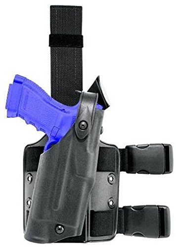 Safariland 6304 ALS Thigh Holster w/Molle Plate, Right Hand, STX Black - For Glock 6304-83-131-MS8 Safariland Thigh Holster