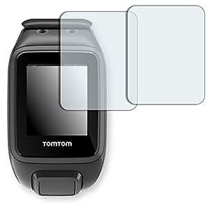 2x Golebo Semi-Matt protectores de pantalla para TomTom Runner 2 - (efecto antirreflectante, montaje muy fácil, removible sin residuos)