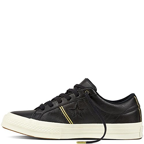 Chaussures Adulte 001 gold Leather Lifestyle Noir black Fitness Star One Mixte De egret Ox Converse qxX6fwgz