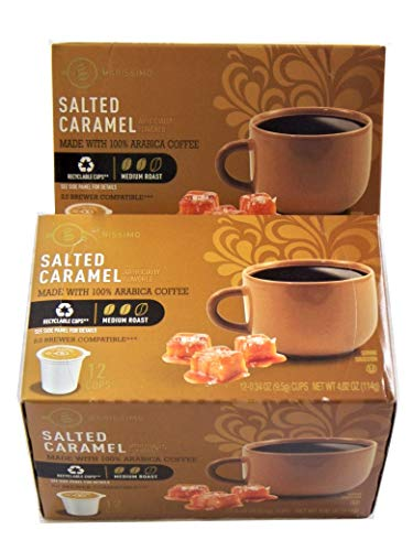 Barissimo Two-Pack Salted Caramel Arabica Coffee K-Cup Compatible Single Serve Pods 2