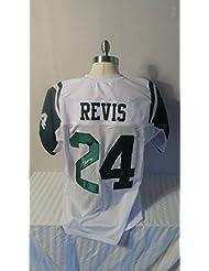 Darrelle Revis Signed New York Jets White Custom Autographed Pro-style Novelty Custom Jersey