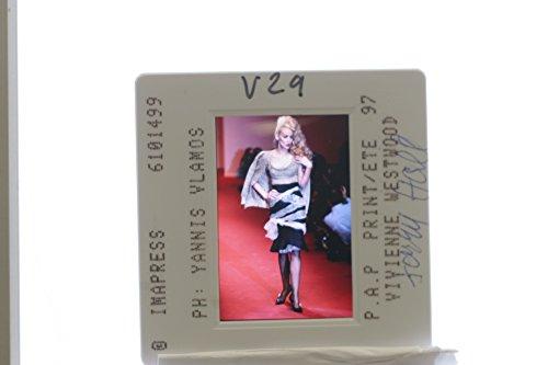 (Slides photo of A model designed by Vivienne Westwood.)