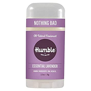 Humble All Natural Deodorant, Aluminum and Paraben Free, Cruelty Free Men's  and Women's Deodorant,