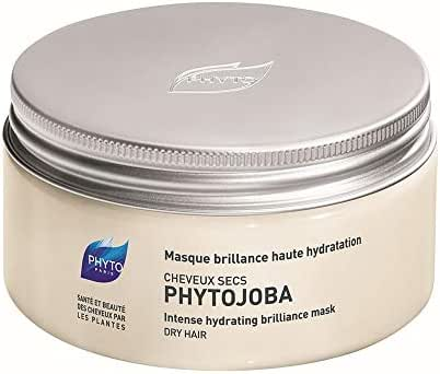 PHYTOJOBA Intense Hydrating Brilliance Botanical Mask | For Dry Hair | Brings Shine & Nurtures,Softens, Detangles, Hydrates, Protects Hair | Coconut Based, Jojoba Oil | Paraben, Silicone, Gluten Free