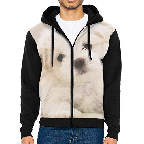 - Men's Our Team Long Sleeve Screen Print Hooded Fleece Pullover Puppy Happy