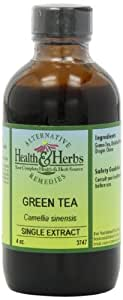 Alternative Health & Herbs Remedies Green Tea Tincture, extract, 4-Ounce Bottle