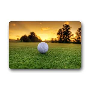 Golf Ball Background Doormat/Gate Pad for outdoor,indoor,bathroom use!23.6inch(L) x 15.7inch(W)