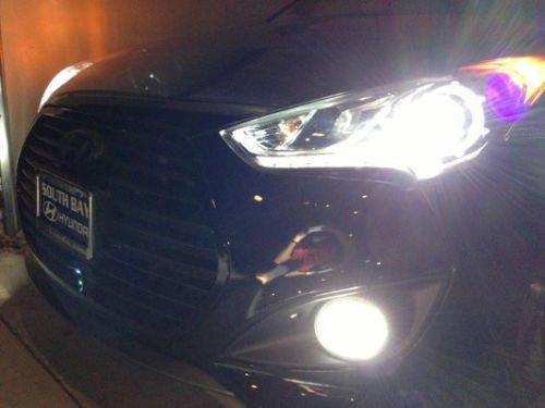 Azul Angel Eye 70 W antiniebla Luces de Conducción Lámparas Halo Kit para Hyundai Veloster Turbo: Amazon.es: Coche y moto