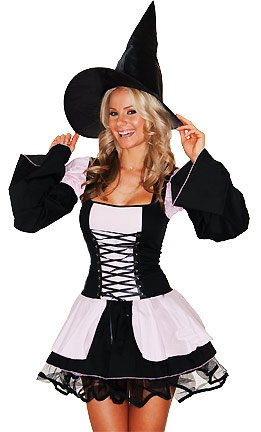 Amazon.com: Roma Costume Women's Love Spell Sexy Witch Costumes ...