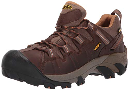 KEEN Men's Targhee II Hiking Shoe,  Gargoyle/Midnight Navy - 10.5 D(M) US