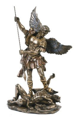 - St. Michael Statue Cold Cast Bronze 10 Inch