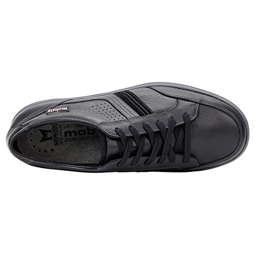 Mobils Mens Vivaldo Black Leather Shoes 42 EU