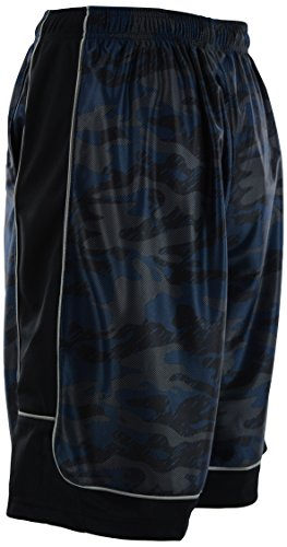 ChoiceApparel Mens Two Tone Training/Basketball Shorts with Pockets (S up to 4XL) (M, 389-Navy) by ChoiceApparel (Image #3)